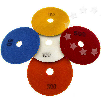 4 100mm Diamond Polishing Pad Grinding Disc For Granite Marble Concrete Stone