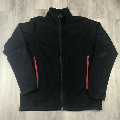 The North Face Full Zip Fleece Jacket/Liner Black Mens Size Medium M Waffle