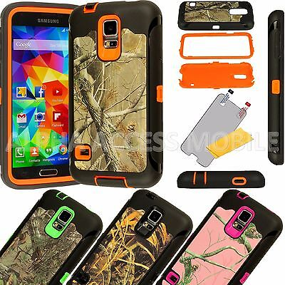 For Samsung Galaxy S6 Protective Shockproof Camo Rugged Hybrid Rubber Case Cover