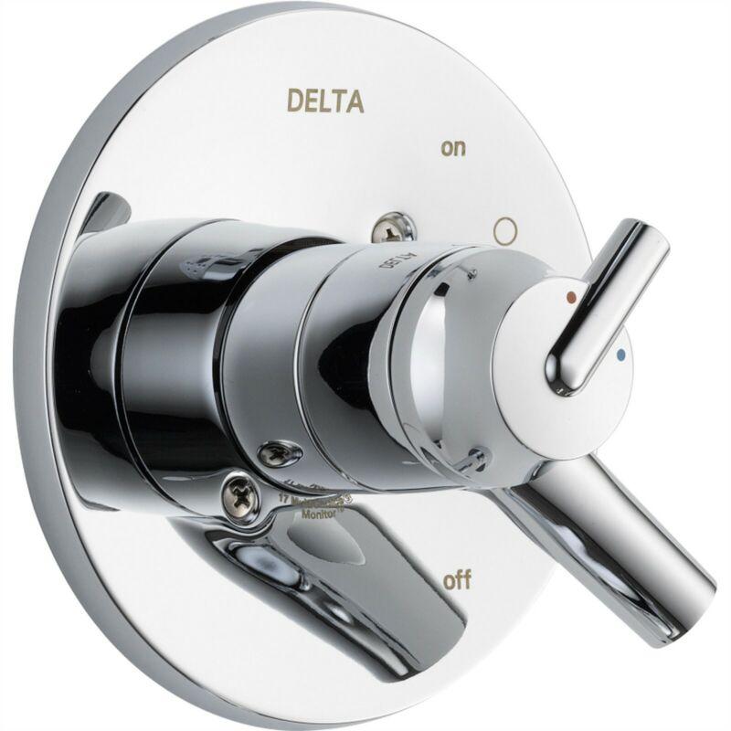 Delta Trinsic Two Handle Chrome Shower Valve Lever Control Trim Kit 590164