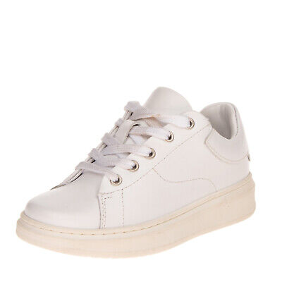 RRP €180 EMPORIO ARMANI Leather Sneakers Size 28 UK 10 US 10.5 Made in Portugal