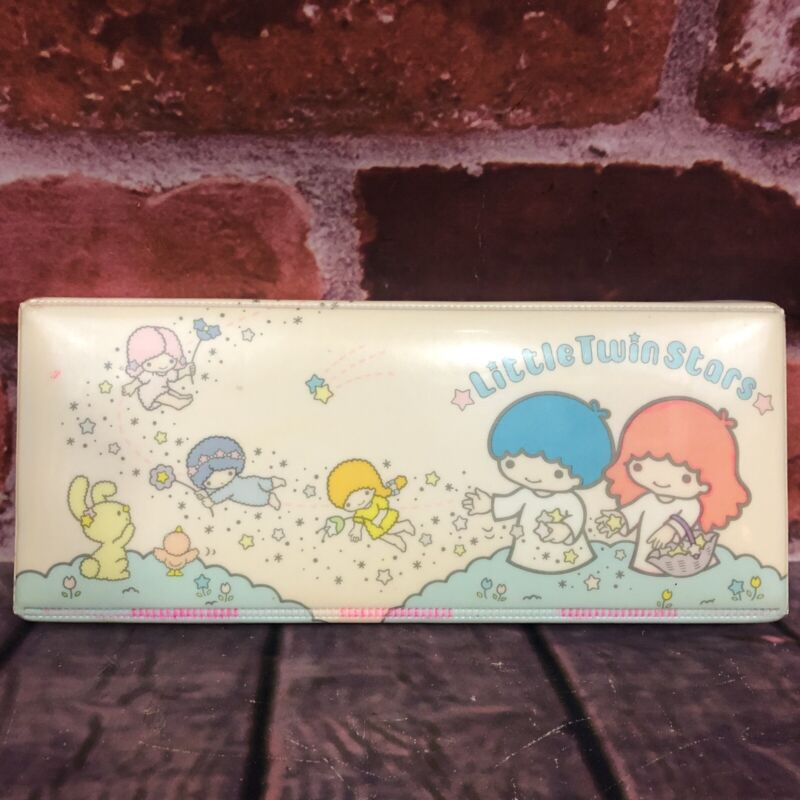 Vintage Sanrio Little Twin Stars Rare Padded Puffy Pencil Case 1976 Japan