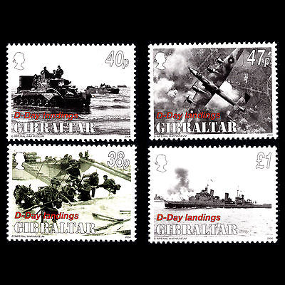 Gibraltar 2004 - 60th Anniversary of D-Day Military War - Sc 976/9 MNH