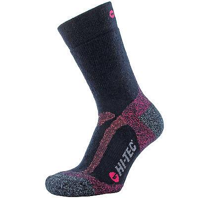 Wolle Feuchtigkeit (Damen Hi-Tec Merinowolle Socken 3 - 8 Feuchtigkeit Wicking Mid Weight Marineblau)