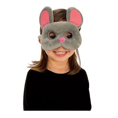 Child Boys Girls Plush Animal Mouse Rat Jerry Nibbles Halloween Costume Eye Mask
