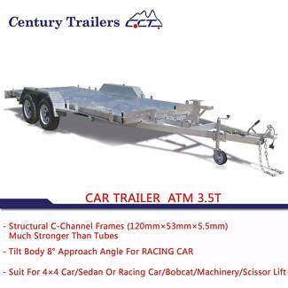 16.6×6.6 3.5T Hot Dipped Galvanized Car Trailer C-Channel Frames