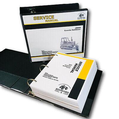 Service Manual For John Deere 850 Crawler Dozer Repair Shop Technical Book Jd850