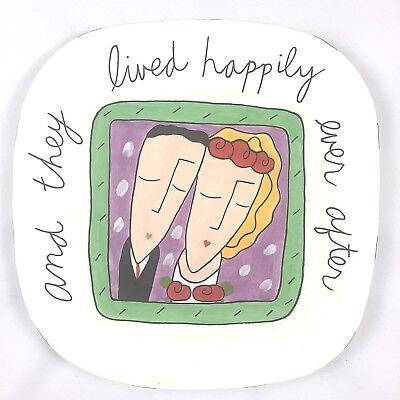 Ceramic Wedding Platter - Sandra Magsamen Wedding Marriage Plate Platter Present Silvestri 12x12