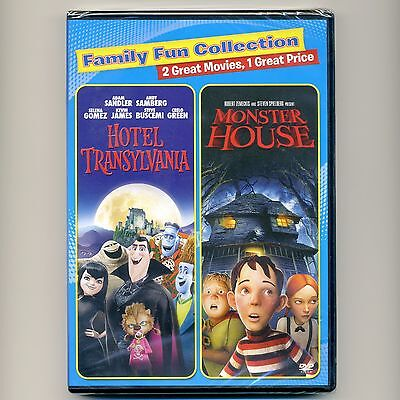 2 family PG animated Halloween movies Hotel Transylvania Monster House, new DVDs - Animated Halloween Movies