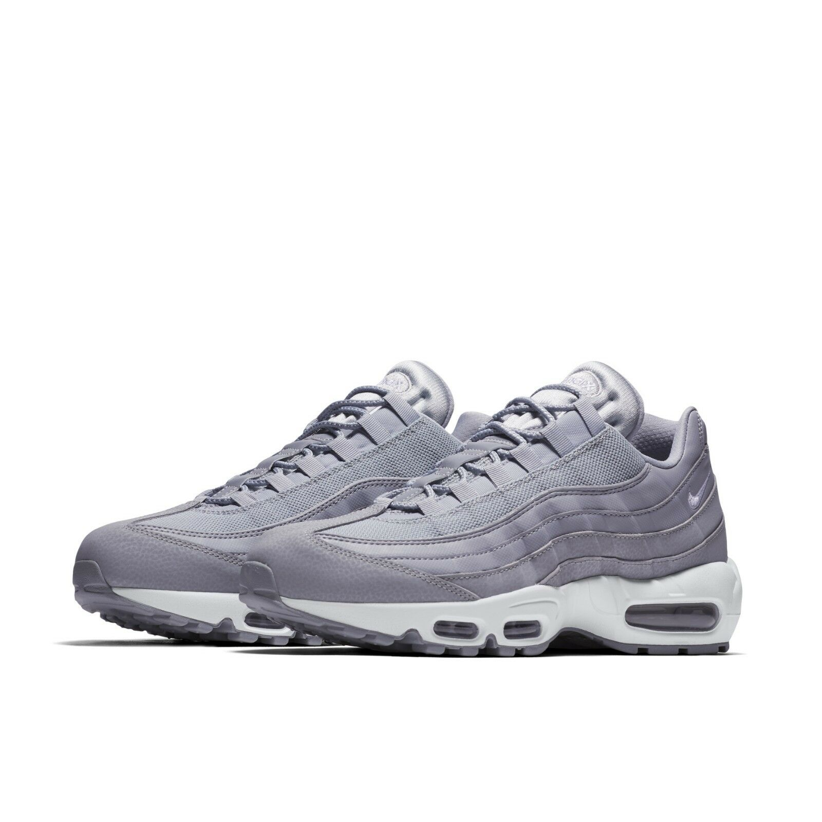 best loved 1a60f 09e95 Nike Mens Air Max 95 Essential Wolf Grey White Running Shoes Sneakers  749766-037