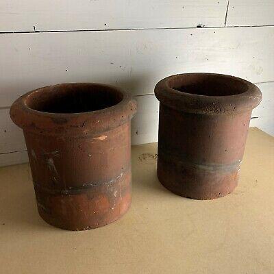 Pair of Small Reclaimed Terracotta Chimney Pots