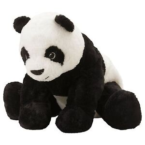 IKEA Panda Bear Stuffed Animal Toy Soft Toy White Black KRAMIG NEW