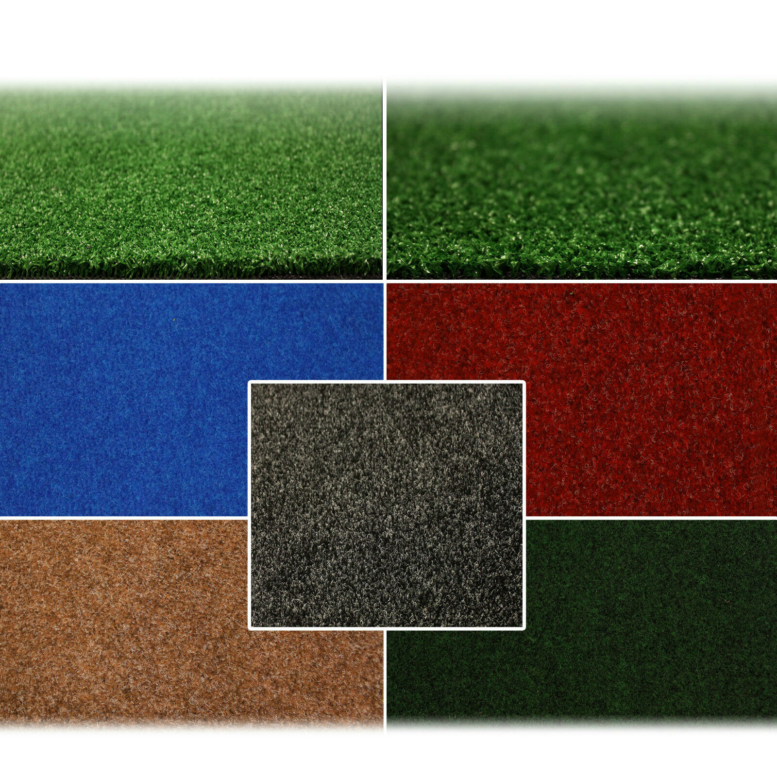 Outdoor Flooring Artificial Grass Carpet Green Blue Cheap Rolls 2