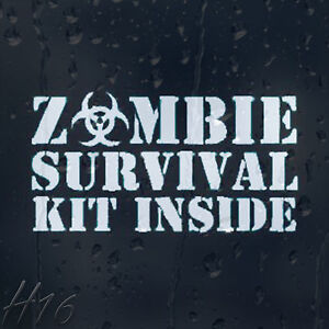 Zombie-Survival-Kit-Inside-Car-Decal-Vinyl-Sticker-For-Window-Panel-Bumper