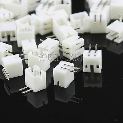 100pcs Ph2.0 2pin Pitch Leads Header Socket Connector Dip 90degree Angle Pcb
