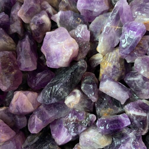2000 Carat Lots of (SMALL) Natural Amethyst Rough + FREE Faceted Gemstone