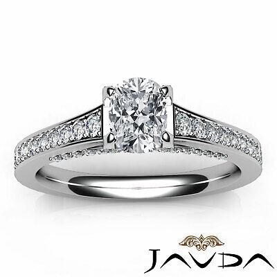 Bridge Accent Micro Pave Set Cushion Diamond Engagement Ring GIA H VS1 1.25 Ct 10