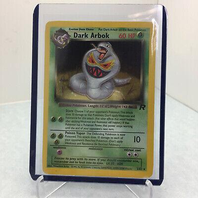 1999-23000 Wizards Pokemon Team Rocket Dark Arbok 2/82 Rare Holo Misprint PSA 9?