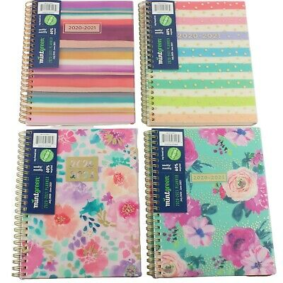 Mintgreen 2020 2021 Monthly Weekly Academic Planner Agenda Spiral Choose Cover