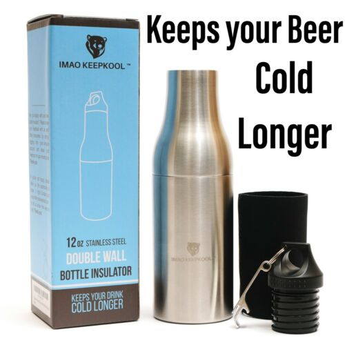 Beer Bottle Insulator Beer Cooler Double Wall Stainless Steel Beer Bottle Holder