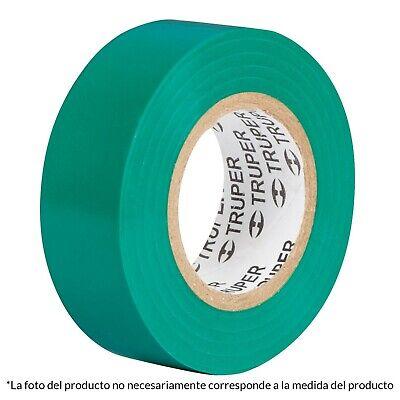 Truper Insulating Electrical Pvc Tape 12502 18 Mx 19 Mm Green