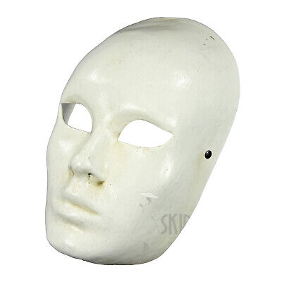 Made in Italy Mask Mime Masquerade Costume Wall Decor Full Face White Prom](Masquerade Prom Decorations)
