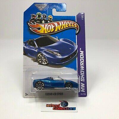 Ferrari 458 Spider #151 * BLUE * 2013 Hot Wheels * ZA13