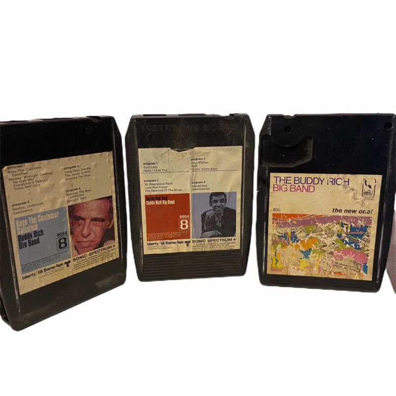 LOT OF 3 Buddy Rich  Tested & Works 8 Track