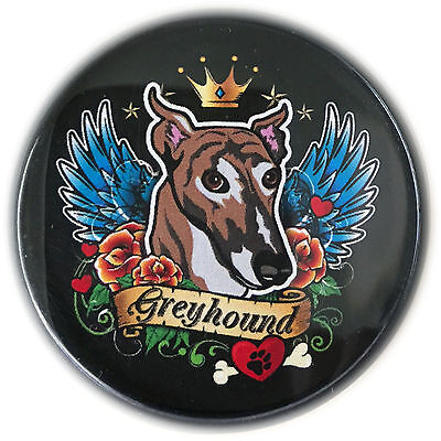 Greyhound Angel Magnet -Magnetic Tagnet -attaches to shirt or bag without a hole