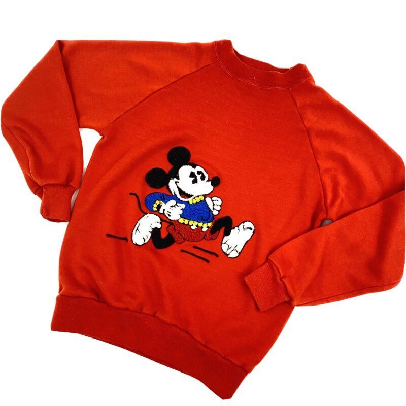 Vintage American Creations Small Mickey Sweatshirt Crewneck Red Flocked