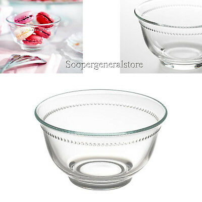Dessert Icecream Dish Bowl Sauce Soup Cake Fruit Sundae Pudding Clear Glass 12cm Sauce Dish Bowl