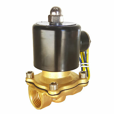 Hfsr 12v Dc 34 Electric Solenoid Valve Water Air Gas Fuels Nc - Brass