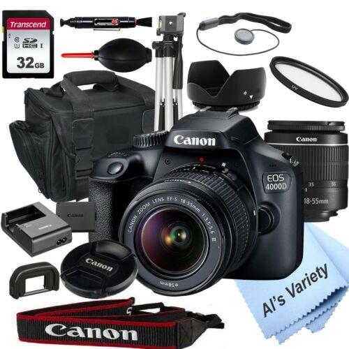 Canon EOS 4000D18.0MP DSLR Camera with 18-55mm Lens+ 32GB (18 PC Bundle)