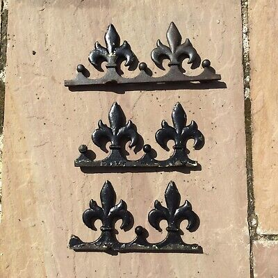 Garden Finials Rails Sections Cast Iron Old Fleur De Lys Reclaimed Architectural