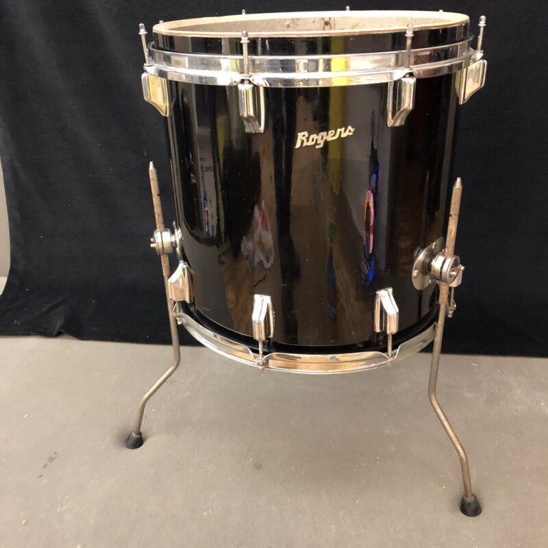"Rare Vintage Rogers Drums - floor tom 1960's Holiday 16"" & rack tom 1970's 14"""