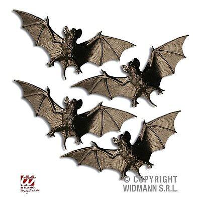 Fledermaus Für Halloween (Fledermaus 4 Stück schwarz Fledermäuse für Halloween Fasching Party Deko 8248)