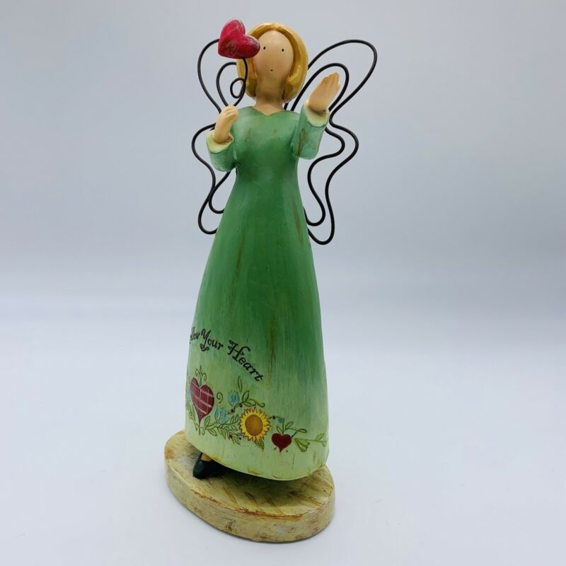"""Russ Berrie & Co Country Gatherings """"Follow Your Heart"""" Figurine 7""""T"""