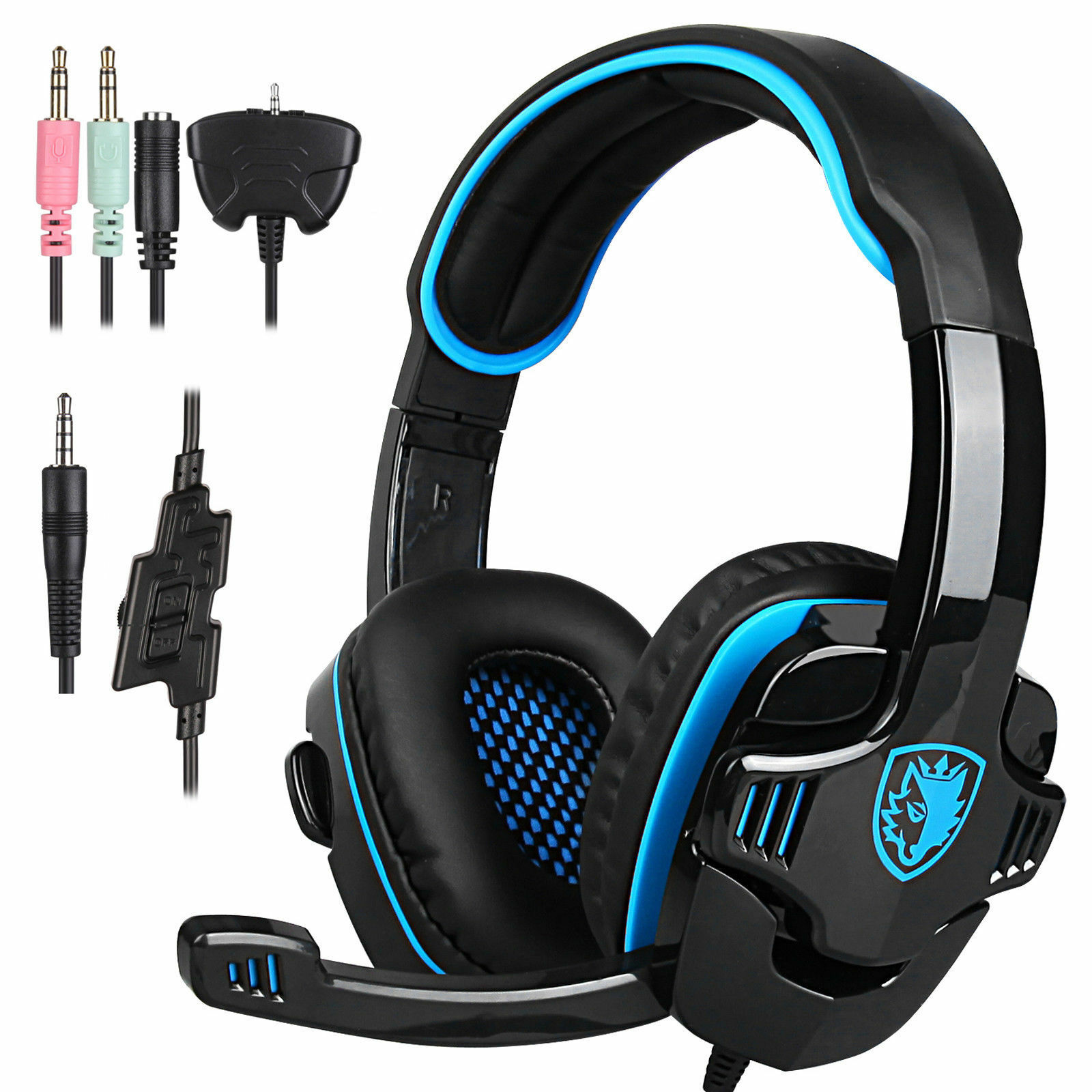 sa 708gt stereo gaming headphones headset headband