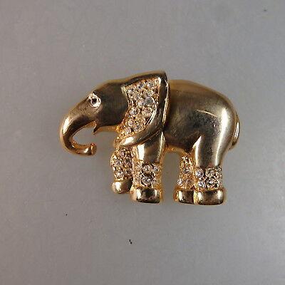 Neugablonz Kleine Brosche Elefant Swarovski Elements (47684)