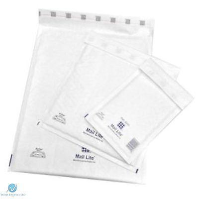100 F3 F/3  White 220 x 330 mm Padded Bubble Wrap Mail Lite Postal Bag Envelopes