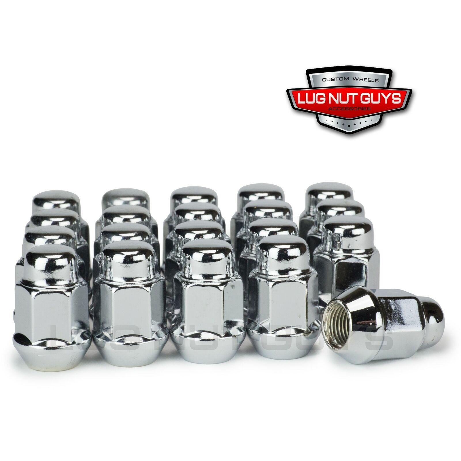 Cone Seat 19mm Hex Wheel Lug Nut Wheel Accessories Parts 20 Dual Coating Chrome 12x1.5 Closed End Bulge Acorn Lug Nuts