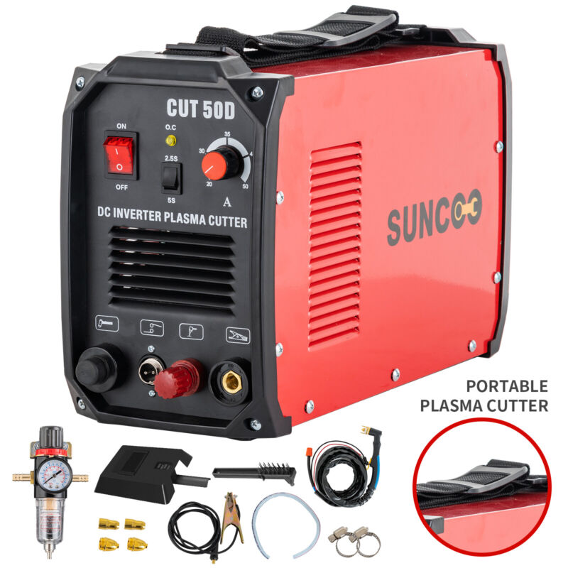 Plasma Cutters Non-Touch Pilot Arc CUT50D Inverter Cutting Machine 110/220V Red