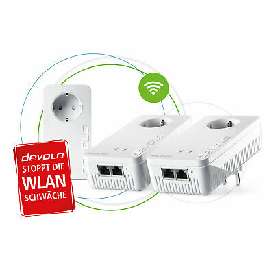 devolo Magic 2 WiFi next Multiroom Kit dLAN Powerline Set 2400 Mbit/s...