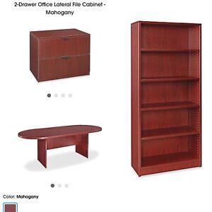 Desk, Book Shelf, Filing Cabinet