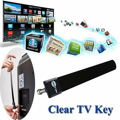 As Seen on TV Clear TV Key FREE HDTV TV Digital Indoor Antenna Ditch Cable USA
