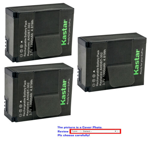 Kastar Replacement Battery for Gopro3 AHDBT-302 & GoPro HD HERO3+ Black Edition