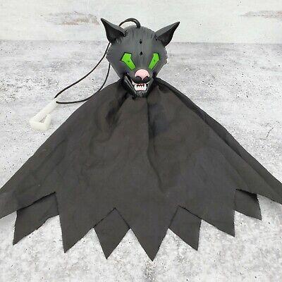 Vintage Gemmy Halloween Hang Ups Black Cat Animated Sound Motion