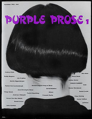 PURPLE PROSE MAGAZINE ISSUE #1 1992 OLIVIER ZAHM, ELEIN FLEISS *RARE*