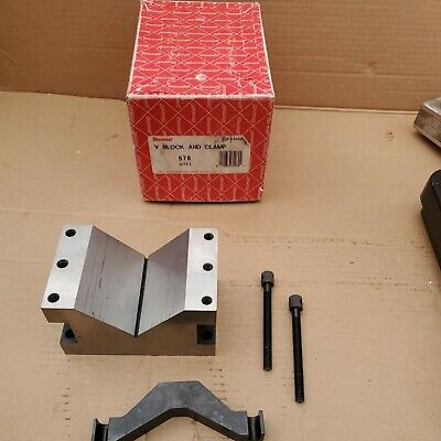 Starrett 578 Large V-block And Clamp Set  Excellent  Aa