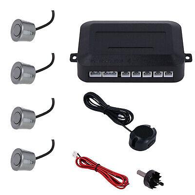 Grau Einparkhilfe 4 Sensoren Hinten Rückfahrwarner Parksensor Parkhilfe PDC ()